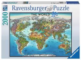 world map puzzle 2000 pieces ravensburger 16683 eugene hobby