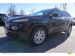 jeep cherokee sport interior 2017 2017 diamond black crystal pearl jeep cherokee sport 117841803