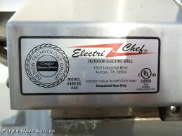 Outdoor Electric Grill Electric Chef 4400 Ec 448 Outdoor Electric Grill Item Ap93