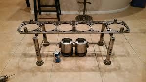 upcycled diesel engine coffee table