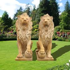 lions statues 5 ideas for outdoor sculpture decor of lion statues