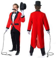 Lion Tamer Costume Mens Ringmaster Ring Master Fancy Dress Costume Tailcoat Lion