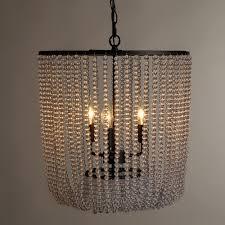 bead chandelier clear bead chandelier world market