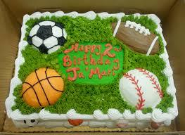 calumet bakery sports balls cake boys decorated cakes