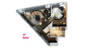 Extreme Wow Suite W Doha Hotel Residences Floor Plan 3d Suite