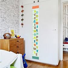 toise chambre b amovible alphabet abc corps toise mesure wall sticker decal pour