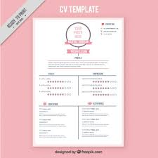 free download cv pink resume template freebie free psd ui download
