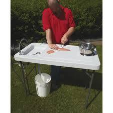 the sharpest rides fish cleaning camp table with faucet www kotulas com free shipping