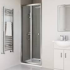 700mm bifold glass shower enclosure reversible folding cubicle