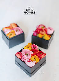 flowers in a box diy boxed flowers a pair a spare