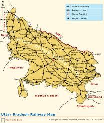 road map up uttar pradesh railway network railway network map uttar pradesh