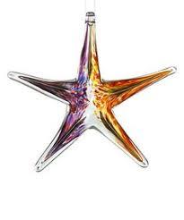 kitras glass 6 green sky glass starfish ornament