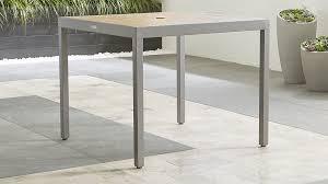 Sofa Table Crate And Barrel Alfresco Natural Outdoor Cafe Table Crate And Barrel