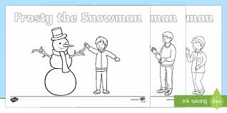 frosty snowman colouring pages priority resources