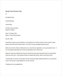 Transfer Request Letter In Bank ideas collection request letter for employee transfer marvelous