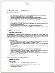 Sample Resume For Mba Finance Freshers by Finance Experience Resume Format Resume Format