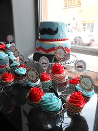 jem cakes mustache baby shower cake