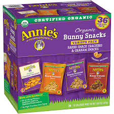 s organic variety pack cheddar bunnies and