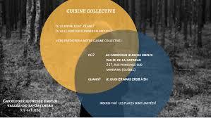 cuisine collectivité emploi cuisine collective du jeudi 29 mars prochain carrefour jeunesse