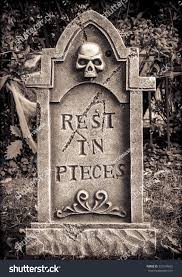 halloween skeleton images scary halloween skeleton gravestone rest pieces stock photo