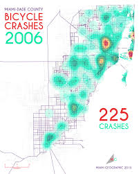Mdc Map Bicycle Crashes In Miami Dade County 2005 2013 Miami Geographic