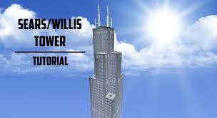Sears Tower Sears Willis Tower Minecraft Tutorial Youtube