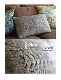 knit home decor mystic comfort pillow pattern nice and knit