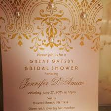 Gatsby Invitations Great Gatsby Style 1920 U0027s Bridal Shower Invitation Pale Pink Paper