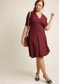 warranted wanderlust knit dress in burgundy modcloth