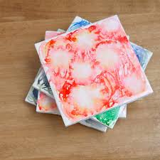 diy these dreamy watercolor tile coasters tile coasters