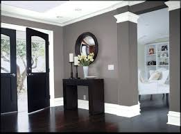 obsessed with the grey walls and white crown molding gorgeous