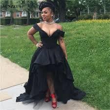 black high low prom dresses 2017 front short long back african