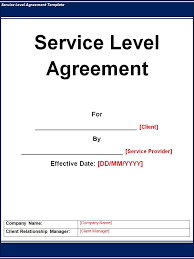 9 best images of sla agreement templates service level agreement