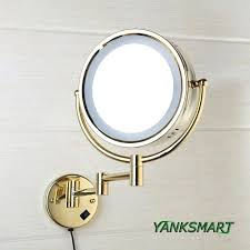 round makeup mirror with lights wall mirrors cosmetic wall mirror bath mirrors brass cosmetic