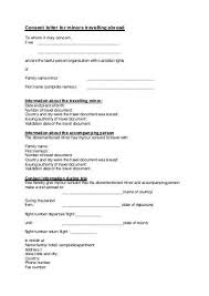 sle consent letter for children travelling abroad with one parent