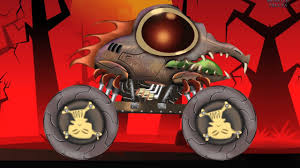 scary monster truck kids halloween monster truck stunts