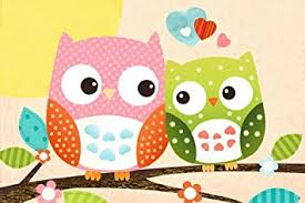 eulen kinderzimmer de poster süße eulen auf ast eule sweet owl kinderzimmer