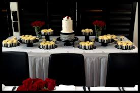 red and black wedding cake table black and red table settings