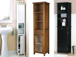 narrow bathroom cabinets btall storage cabinet tall wood