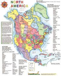 United States America Map by Ways To Use A North America Map Maps For The Classroom