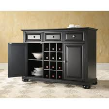 buffet kitchen furniture crosley alexandria black buffet kf42001abk the home depot