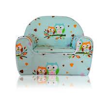 siege bebe mousse fauteuil pour enfant canapé siège enfant en mousse 07 hibou vert