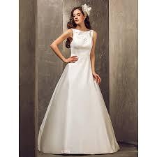 Plus Size Wedding Dresses Uk A Line Plus Sizes Wedding Dress Ivory Floor Length Bateau Satin