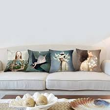 Sofa Pillow Cases Yoler Art Decorative Throw Pillow Cases Square 18 18 Inch Pillow