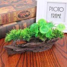 tronc d arbre artificiel aliexpress com acheter résine aquarium arbre tronc décoration
