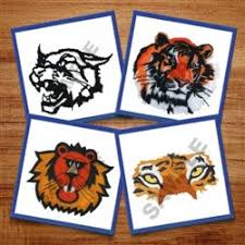 animals embroidery design tiger from great notions