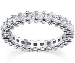 eternity wedding shared prong princess diamonds eternity wedding band 3 00 cttw