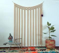 macrame wall hanging tassel dorm decor ombre purple tassel