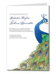 peacock wedding programs custom designed and printed wedding programs
