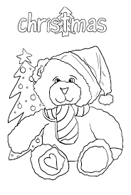 merry christmas holidays teddy bear coloring pages coloring sky